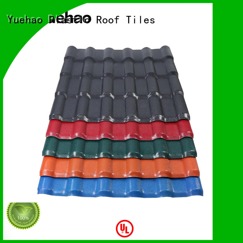 Yuehao plastic roof tiles wholesaler construction corrugated pvc panels with good price for connection
