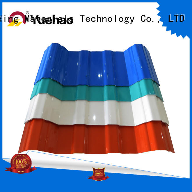 Yuehao plastic roof tiles wholesaler new arrival apvc roof tile edging personalized for wall sealing
