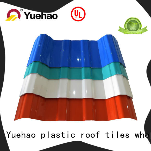 Yuehao plastic roof tiles wholesaler plastic roof slates prices tile for connection