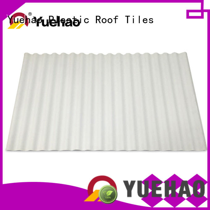Yuehao plastic roof tiles wholesaler widely used PVC heat resistant roof overseas market for station