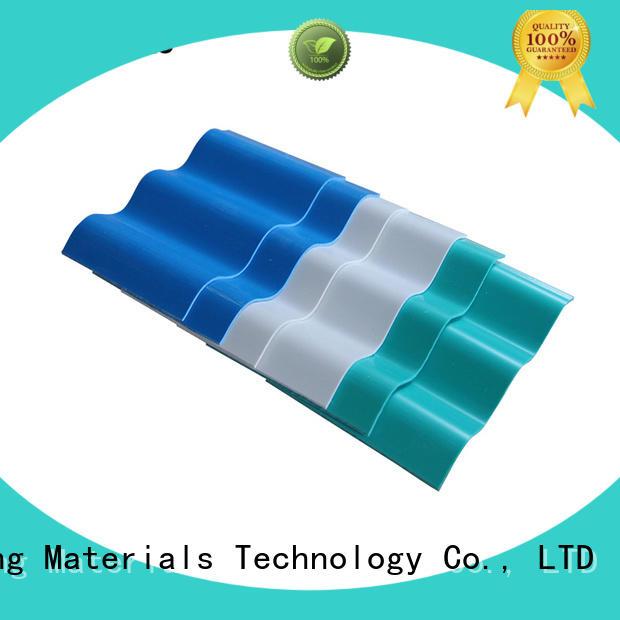 Yuehao plastic roof tiles wholesaler disabled lightweight roof tiles for sheds producer for ending decoration