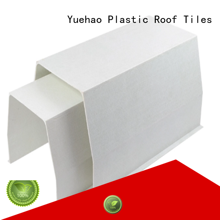 gutter gutter mesh products carrying for wall sealing Yuehao plastic roof tiles wholesaler