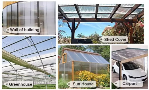 Yuehao plastic roof tiles wholesaler hollow clear corrugated plastic sheets greenhouse wholesale for dormer clapping-3