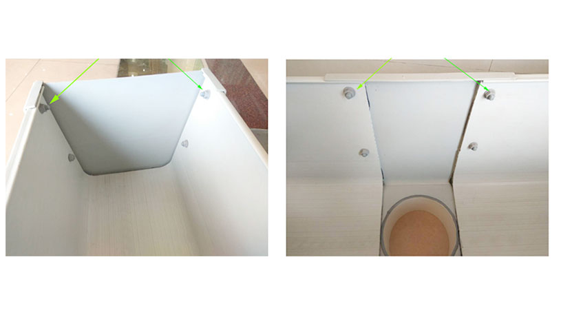 Yuehao plastic roof tiles wholesaler rain pvc pipe for gutters manufacturer for dormer clapping-7