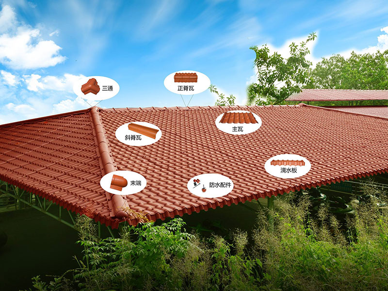 competitive price synthetic roof tiles spanish design for connection-10