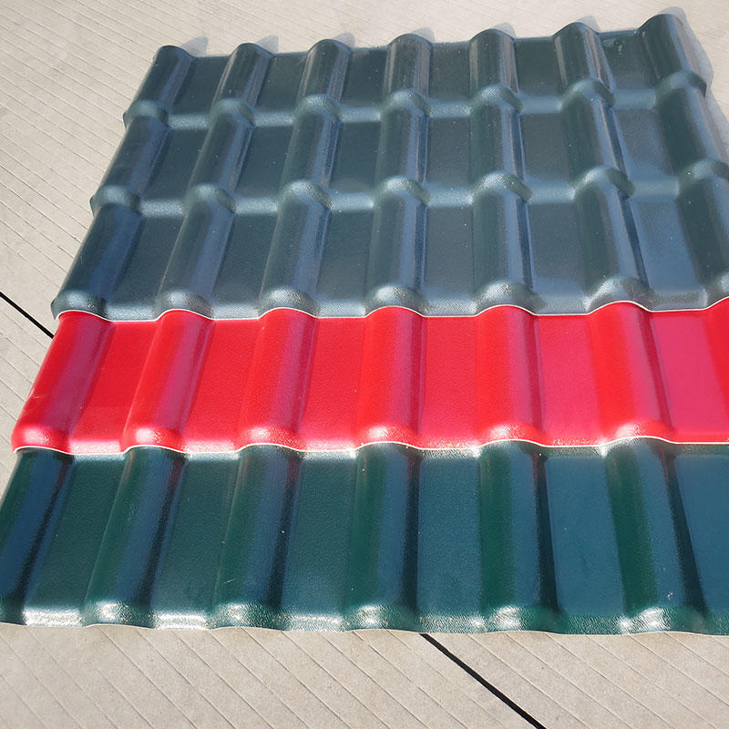 red Spanish type ASA synthetic resin roofing tiles for wholesales from foshan factory