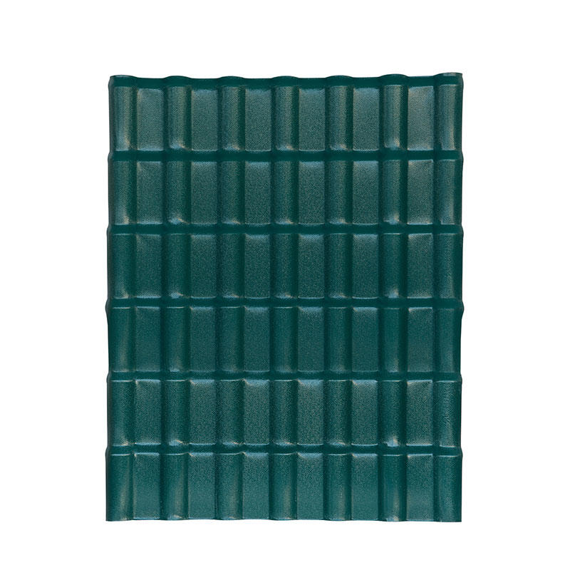 customized size pmma coated pvc roof tiles for luxury villa construction