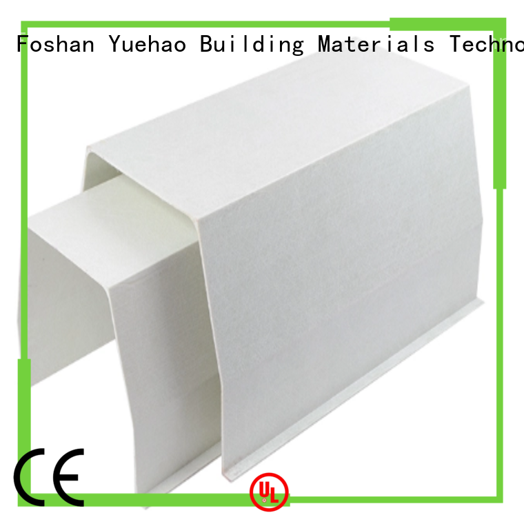 Yuehao plastic roof tiles wholesaler clear pvc rain gutter fittings customized for ending decoration