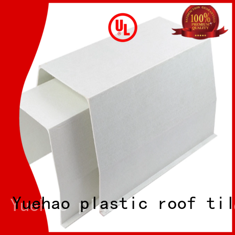 Yuehao plastic roof tiles wholesaler widely used aluminum rain gutters lowes series for wall sealing