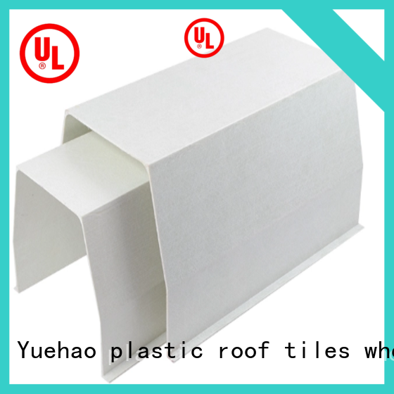 Yuehao plastic roof tiles wholesaler rain pvc pipe for gutters manufacturer for dormer clapping